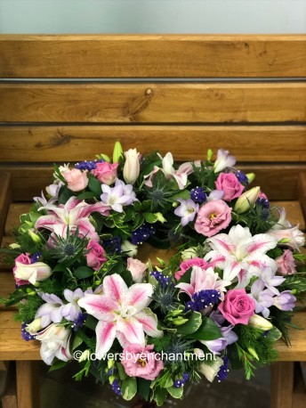 Classic Wreath in Pink & Lilac