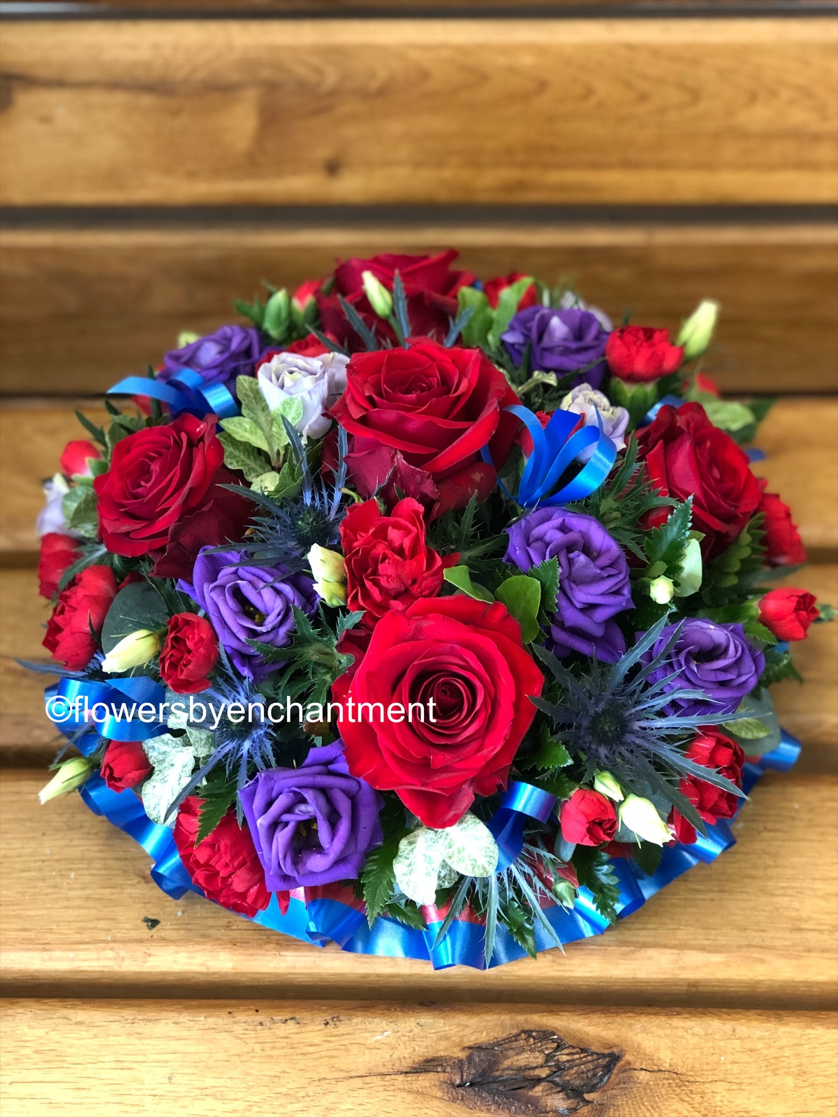 Red, Purple and Blue Posy