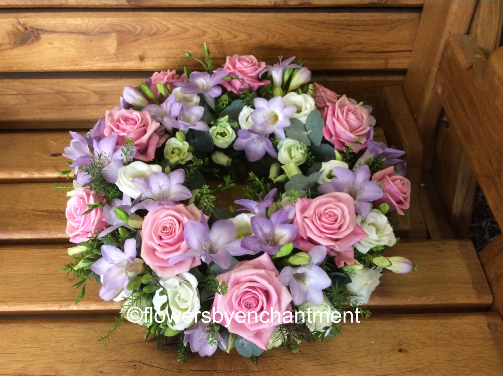 Pastel Pink & Lilac Wreath