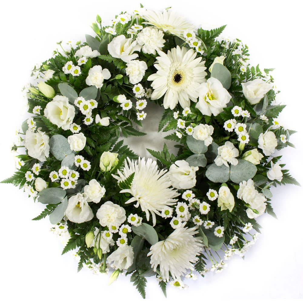 SYM 321 Classic Wreath in White