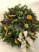 Christmas Door Wreath - Natural