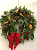 Christmas Door Wreath - Red